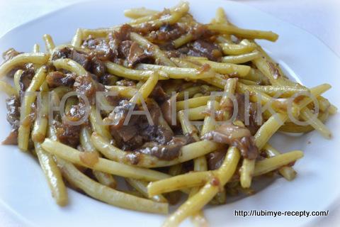 Спаржевая фасоль с грибами 2