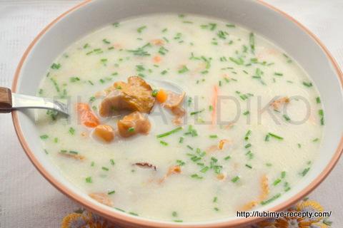 """""""Грибной суп из лисичек"""" 10"""