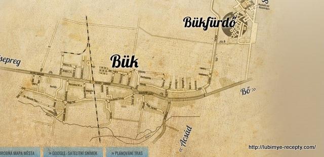 Город Бюк (Бюкфюрдо)карта