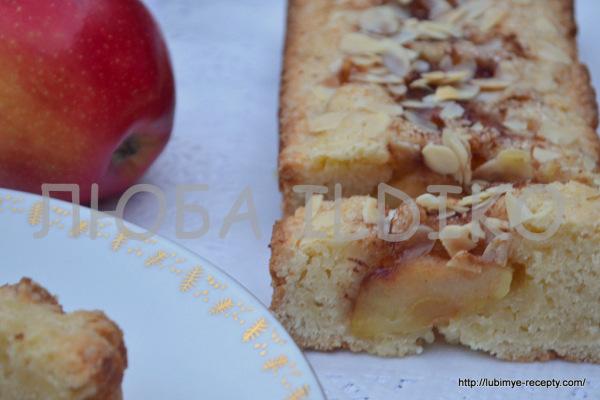 Пирог с карамельными яблоками7