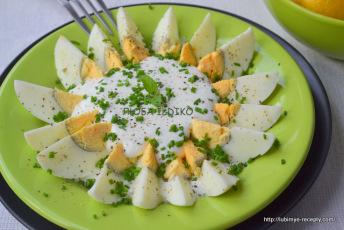 Салат из яиц с зелёным луком 2