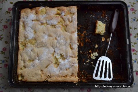 Легкий пирог с яблоками2