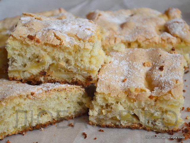 Легкий пирог с яблоками3