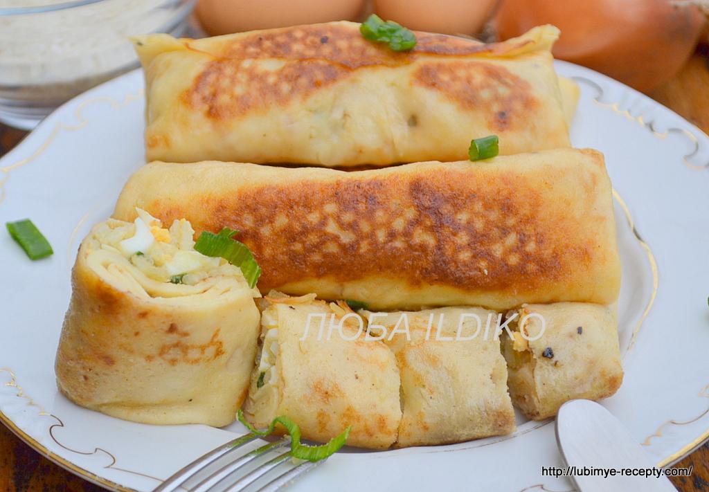 Рецепт блинчики с яйцами и рисом