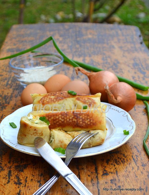 Блинчики с рисом и яйцом4