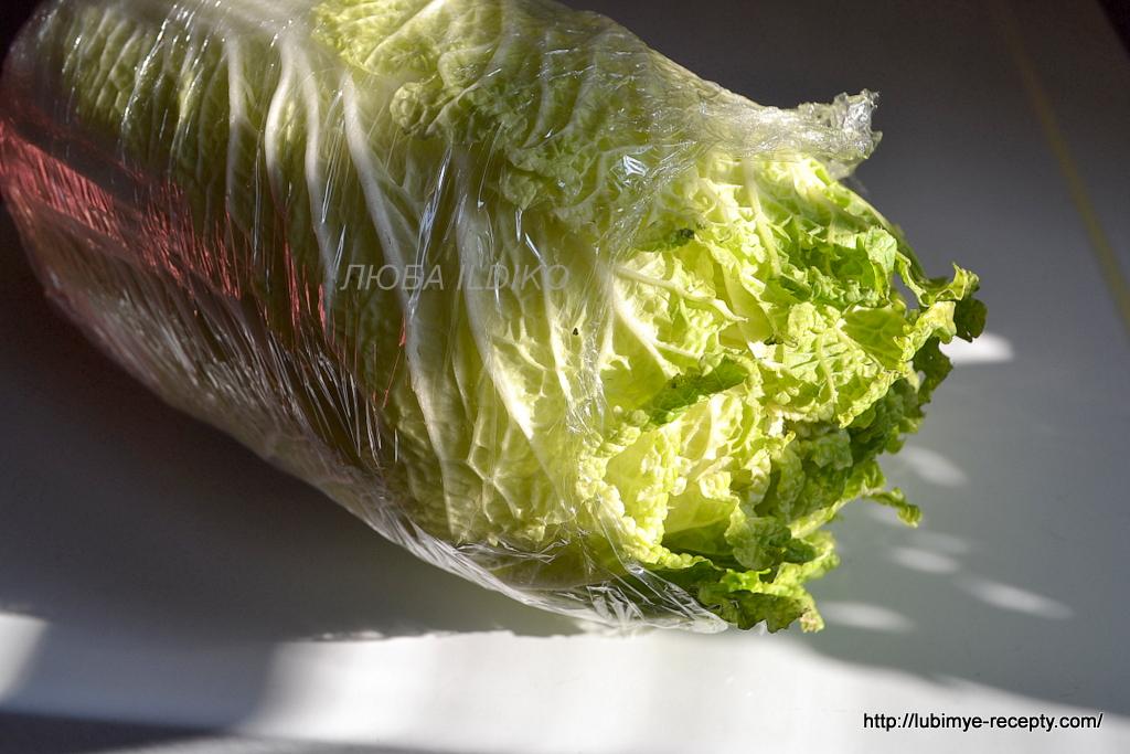 Цезарь с пекинской капустой рецепт с фото
