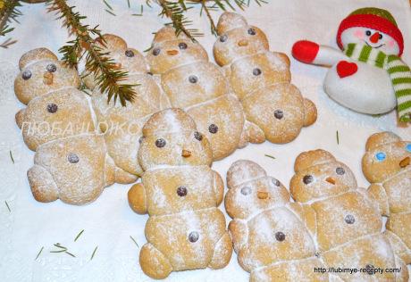 Печенье снеговики6
