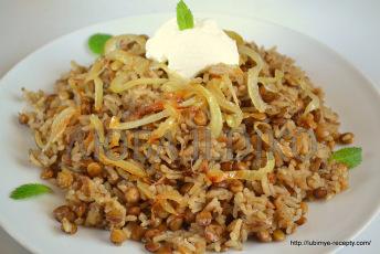 Ближневосточная кухня - рис с чечевицей