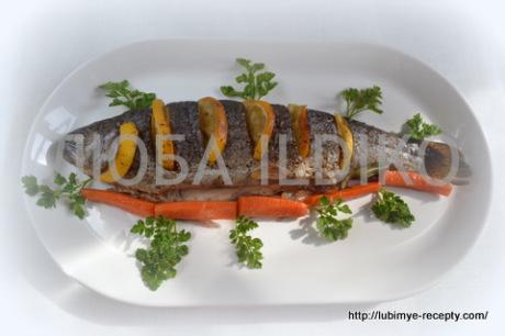 Рыба запеченная в духовке с овощами2