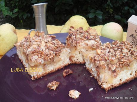 Пирог с яблоками и грушами8