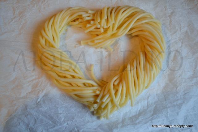 Рецепт вермишели в форме сердца