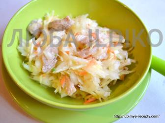 Салат из капусты с мясом4