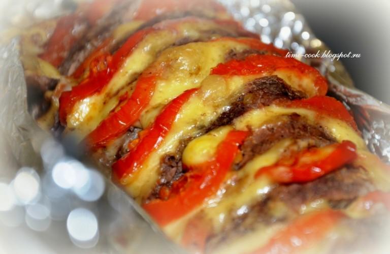 рецепт пошагово мяса в фольге в духовке с фото в фольге