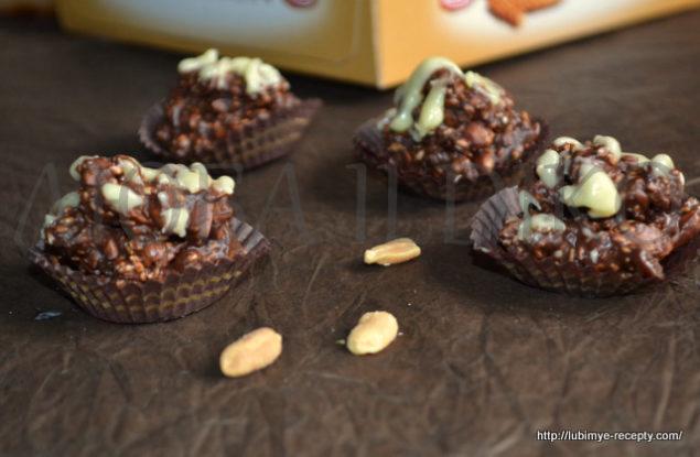 Шоколадные конфеты с орехами 6